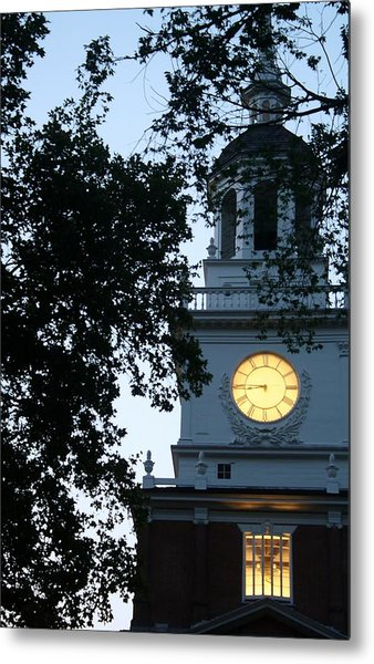 Independence Hall At Dusk Metal Print