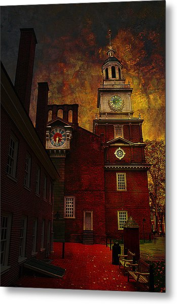 Independence Hall Philadelphia Let Freedom Ring Metal Print