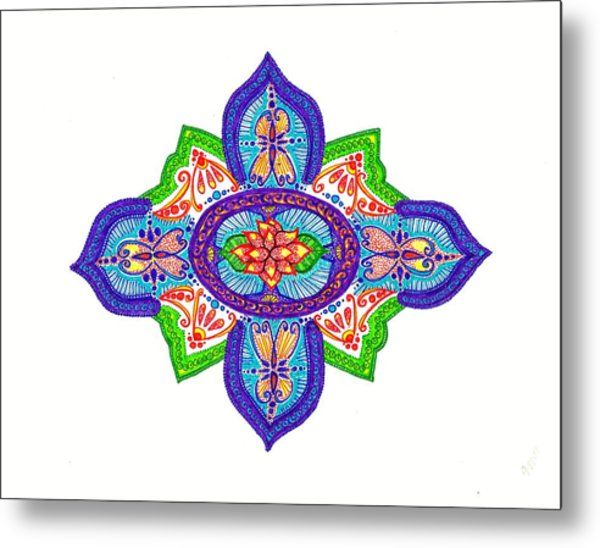 India Silk Metal Print by Marie Parker