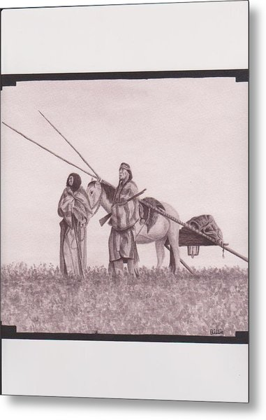 Indian Blackfoot Travis Metal Print by Billie Bowles