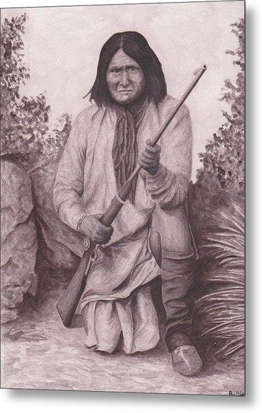 Indian Chief Geromino Metal Print by Billie Bowles