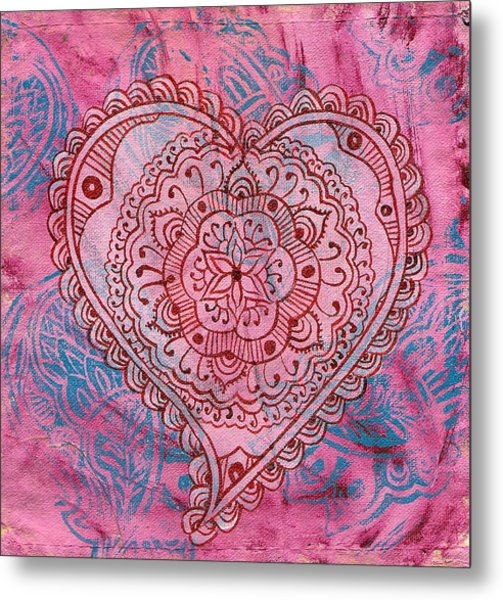 Indian Heart Metal Print