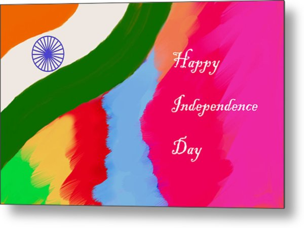 Indian Independence Day Metal Print