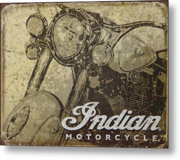 Indian Motorcycle Poster Metal Print