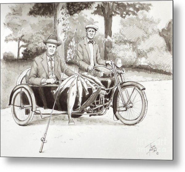 Indian Motorcylce Founders Metal Print