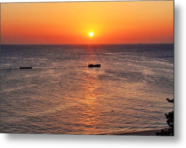 Indian Ocean Evening Scene Metal Print