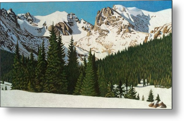Indian Peaks Winter Metal Print