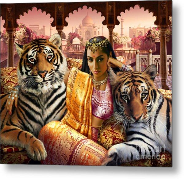 Indian Princess Metal Print