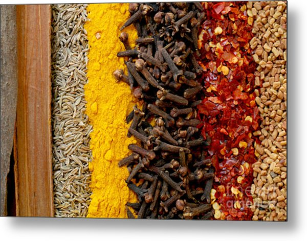 Indian Spices Metal Print