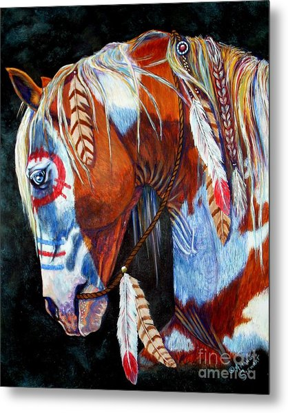 Indian War Pony Metal Print