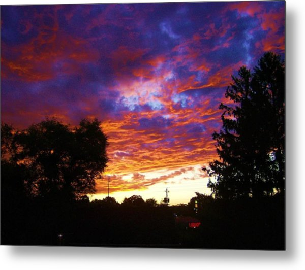 Indiana Sunset Metal Print