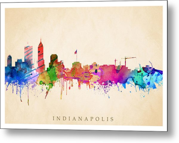 Indianapolis Cityscape Metal Print
