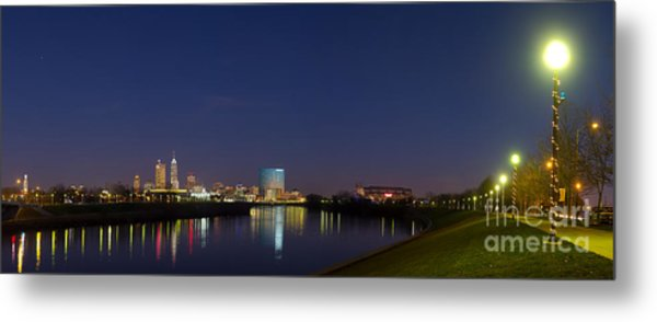 Indianapolis From White River Metal Print