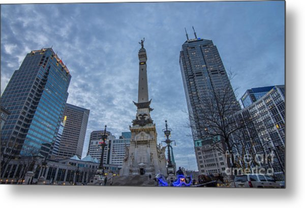 Indianapolis Indiana Monument Circle Blue  Metal Print