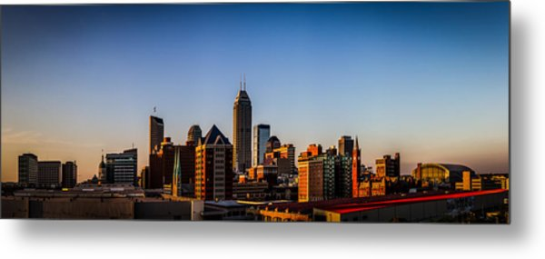 Indianapolis Skyline - South Metal Print