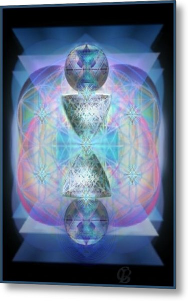 Indigoaurad Chalice Orbing Intwined Hearts Metal Print by Christopher Pringer