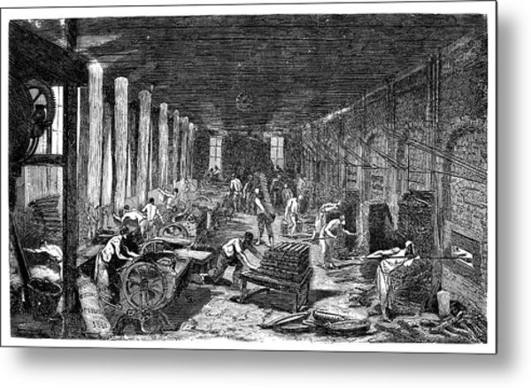 Industrial Bakery Metal Print by Science Photo Library