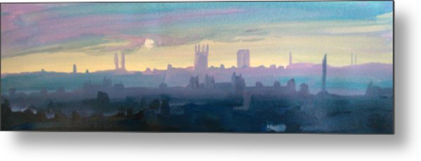 Industrial City Skyline 1 Metal Print by Paul Mitchell