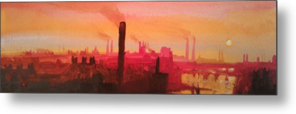 Industrial City Skyline 2 Metal Print by Paul Mitchell