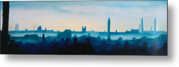 Industrial City Skyline 3 Metal Print by Paul Mitchell