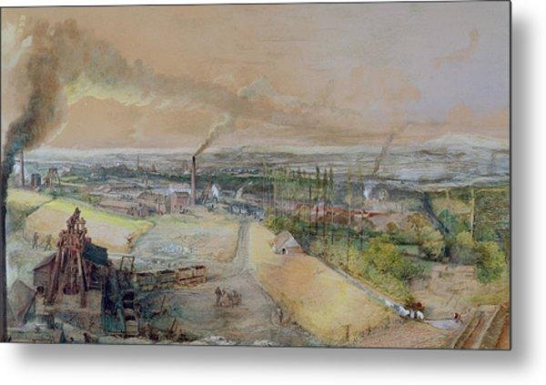 Industrial Landscape In The Blanzy Coal Field Metal Print