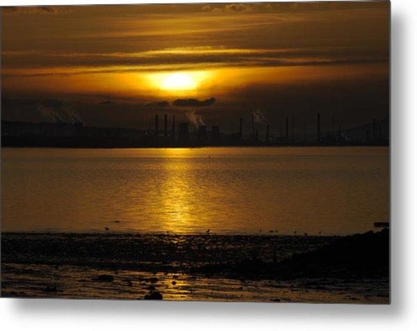 Industrial Sunset Metal Print