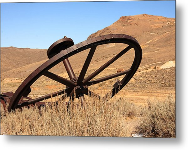 Industrial Wheel Metal Print