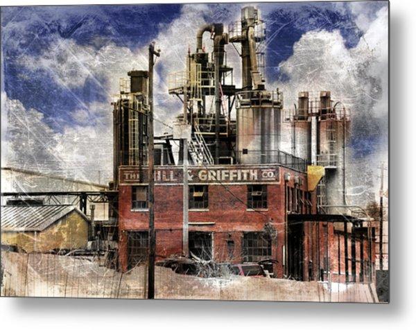 Industrial Work Metal Print