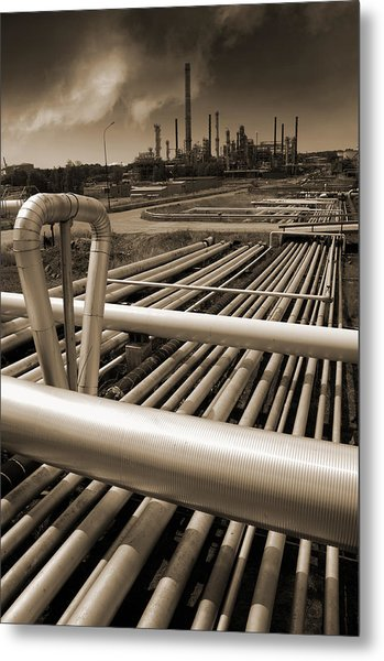 Industry Oil Gas And Fuel Metal Print
