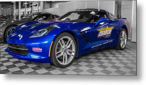 Indy 500 Corvette Pace Car Metal Print