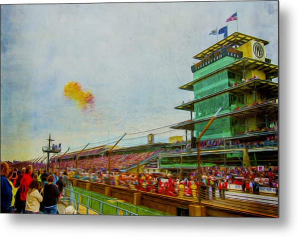 Indy 500 May 2013 Race Day Start Balloons Metal Print