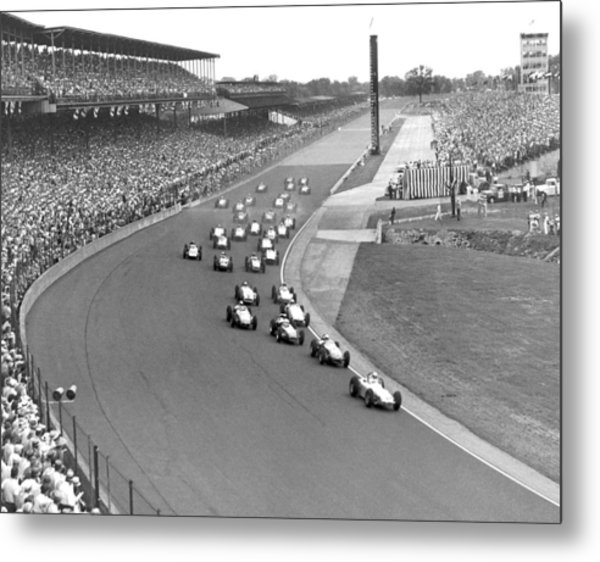 Indy 500 Race Start Metal Print