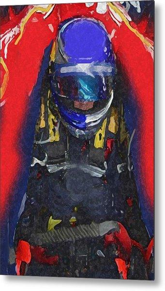 Indy Car Pilot Metal Print