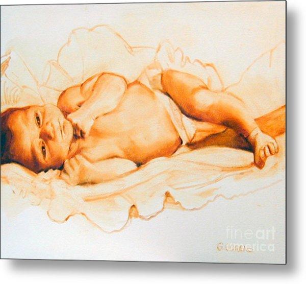 Infant Awake Metal Print