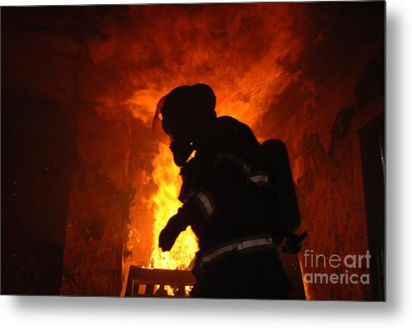 Inferno Metal Print by Steven Townsend