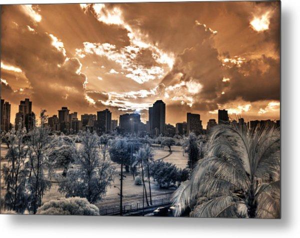 Infrared Sunset Metal Print