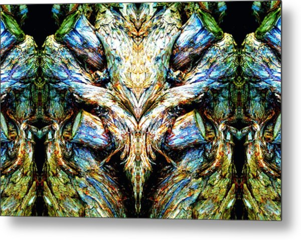 Ingrained Wings Metal Print