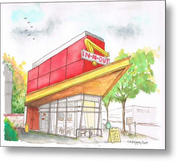 In'n Out Burger In San Francisco - Calfornia Metal Print