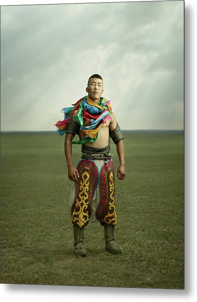 Inner Mongolian Wrestlers Metal Print