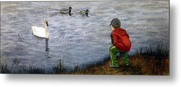 Innocent Curiosity Metal Print