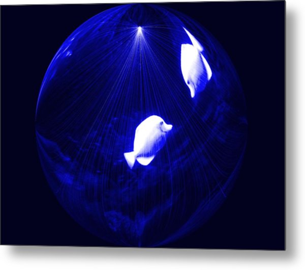 Inside My Own Planet Digital Art By Saribelle Rodriguez Metal Print