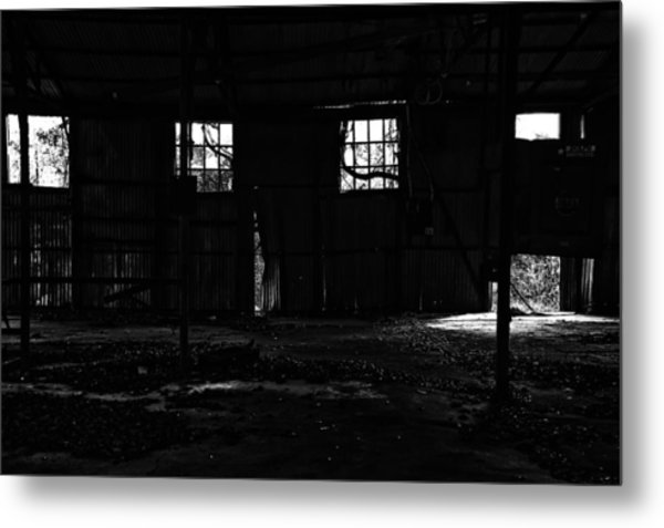 Inside Old Warehouse Metal Print