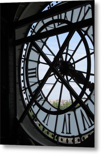 Inside Out Clock Metal Print by Stephanie Hunter