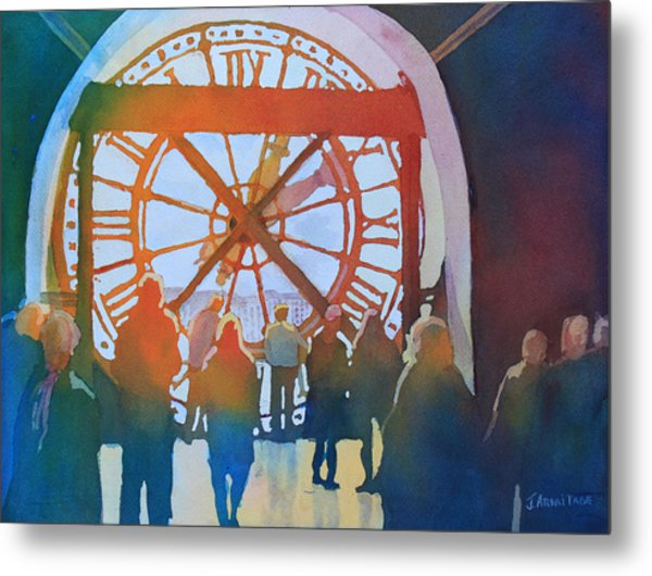Inside Paris Time Metal Print