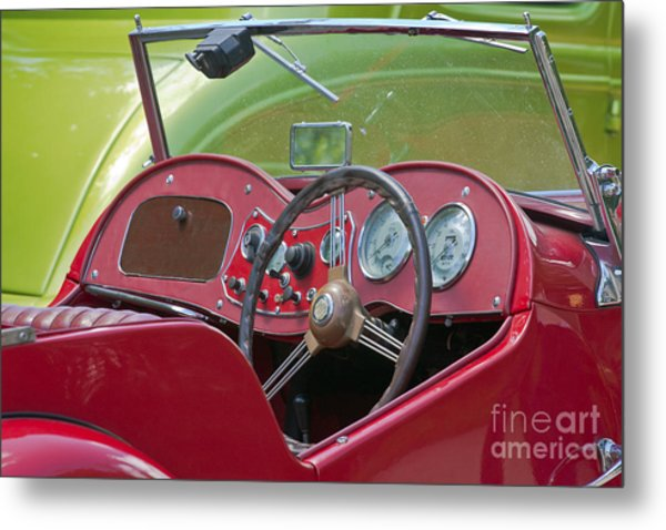 Red Mg-td Convertible  Metal Print
