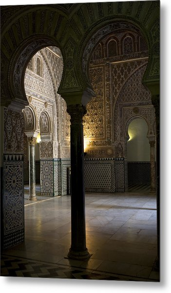 Inside The Alcazar Of Seville Metal Print