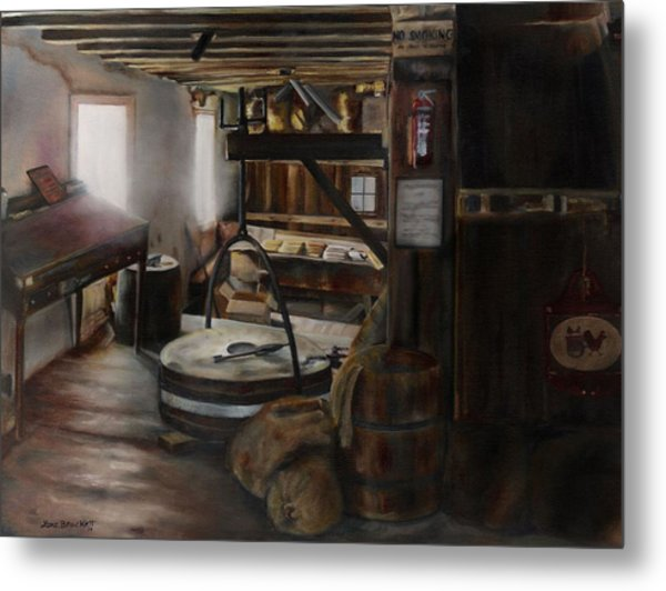 Inside The Flour Mill Metal Print