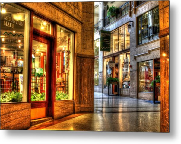 Inside The Grove Arcade Metal Print