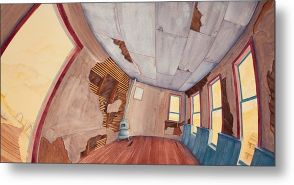 Inside The Old School House IIi Metal Print
