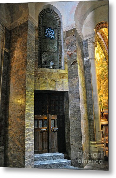 Inside The Rosary Basilica In Lourdes Metal Print by Graham Taylor